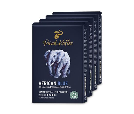 2 kg Privat Kaffee African Blue - Ganze Bohne