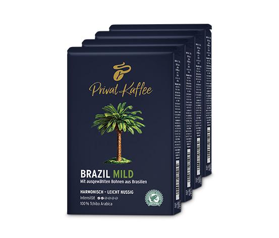 2 kg Privat Kaffee Brazil Mild - Ganze Bohne