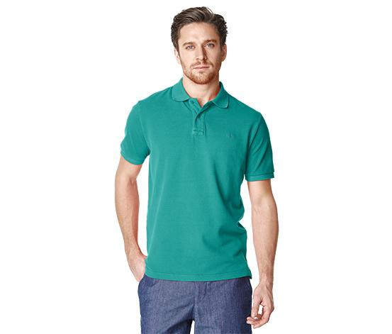 Férfi piké pólóing, zöld