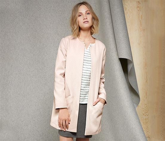 Női kabát, rózsaszín