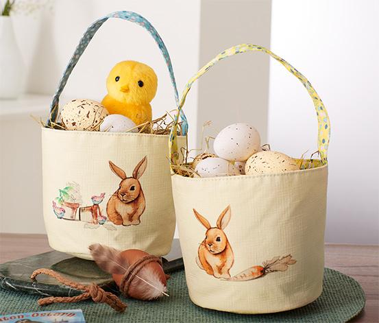2 gyűjtőtáska húsvéti tojásokhoz szettben