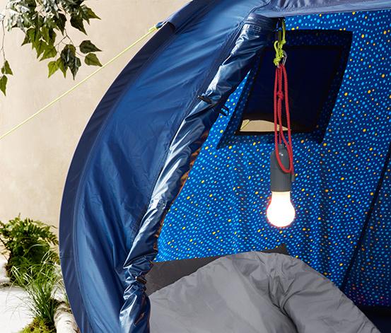 Lampka LED z karabińczykiem