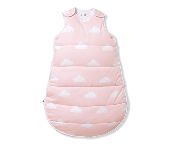 Baby-Schlafsack, rosa-weiss