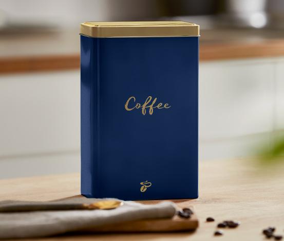 Kaffeedose, blau