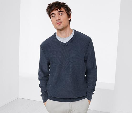 Herren-V-Pullover