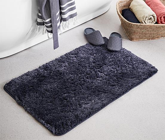 Dywanik łazienkowy z wysokim włosiem 50x80 cm, ciemnoszary