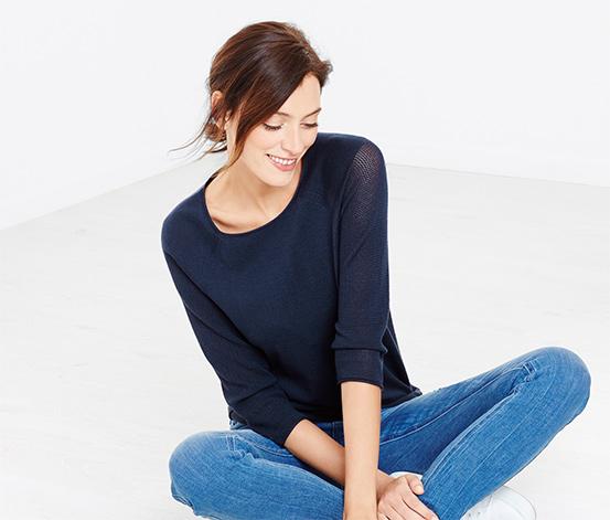 Tenký pletený pulóver