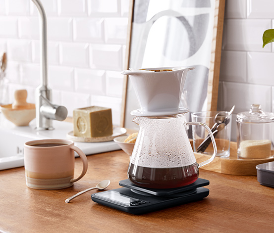 Sklená kanvica na kávu