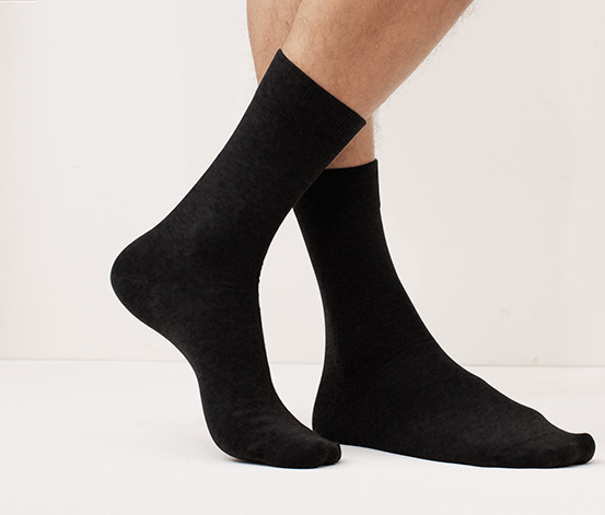 Férfi zokni szettben, 2 pár, fekete