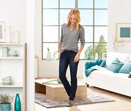 Dżinsy super stretch z bawełną ekologiczną, ciemny dżins