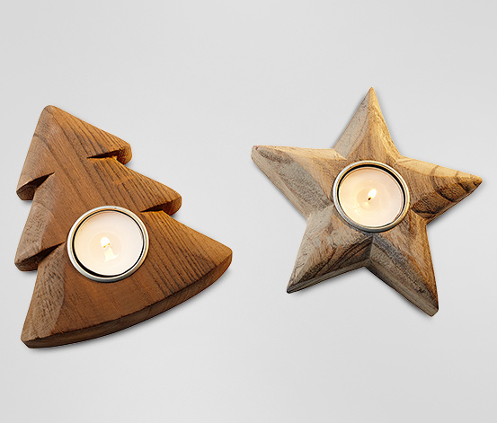 Oprawki na świeczki typu tea light, 2 sztuki