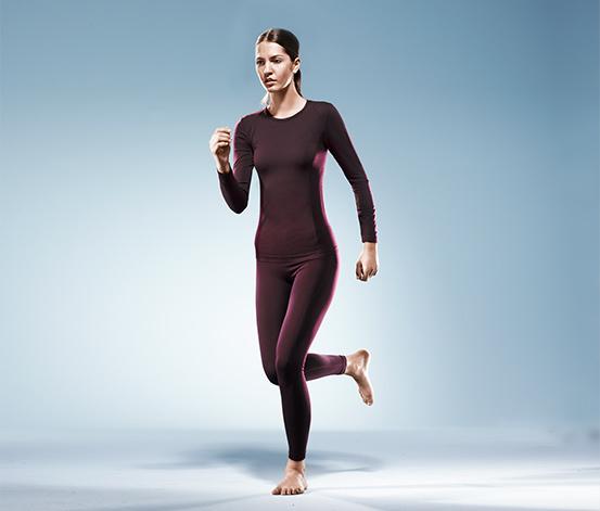 Dámské bezešvé sportovní spodní prádlo, temně fialové
