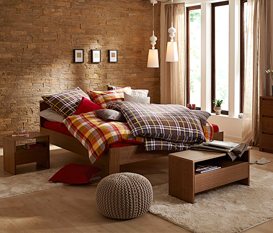 Pamutflanel ágynemű, kockás, 1 személyes