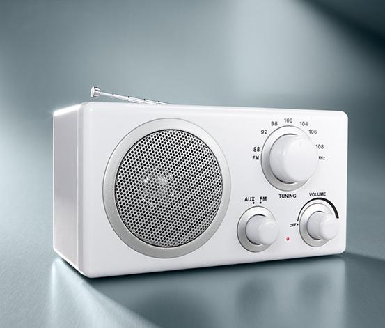Kompaktní rádio, bílé
