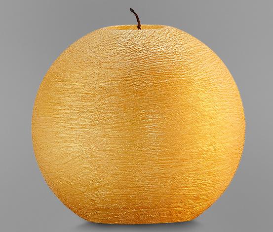 Duża świeca okrągła, złota