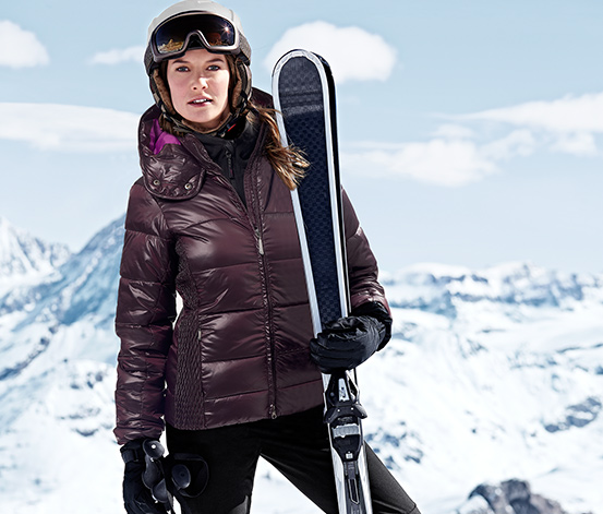 Dámska prešívaná lyžiarska bunda