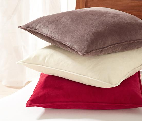 Dekoracyjna poszewka na poduszkę, kremowa