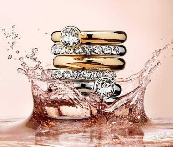 Prsteny, 3 ks, dvoubarevné provedení