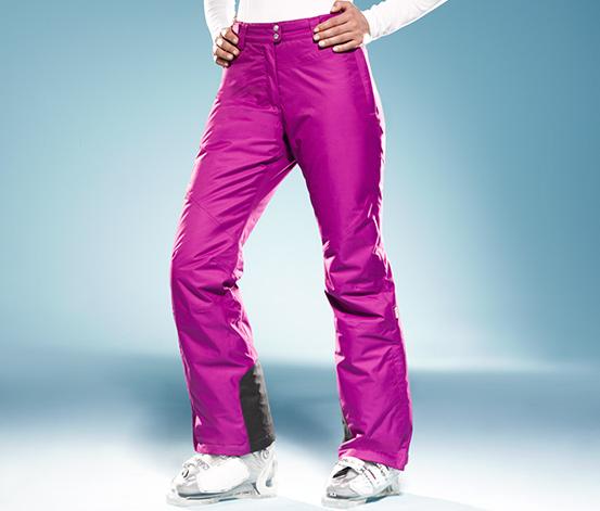 Lyžařské kalhoty, purpurové