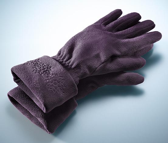 Rękawiczki z mikropolaru, oberżyna
