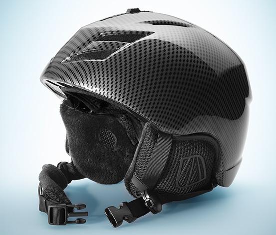Ochronny kask narciarski i snowboardowy, czarny