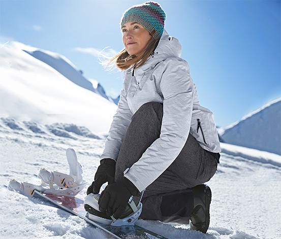 Kayak ve Snowboard Montu, Kırçıllı Açık Gri, Street Style