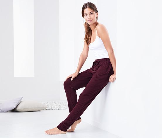 Leylak Rengi Rahat Ev Pantolonu