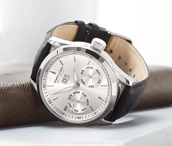 Zegarek automatyczny na skórzanym pasku