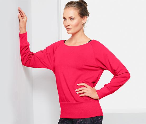 Yarasa Kollu Sweatshirt, Kırmızı