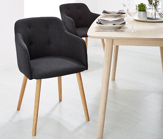 Gepolsterter Esszimmer-Stuhl