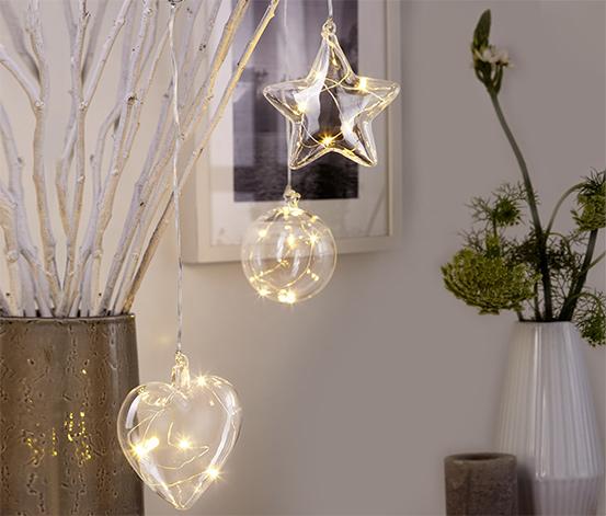 Szklane zawieszki LED