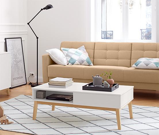 Table basse avec espace de rangement