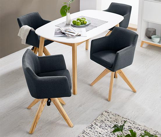 Polstrovaná otočná židle s nastavitelnou výškou