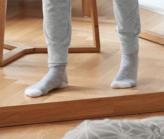 2 női zokni szettben, szürke
