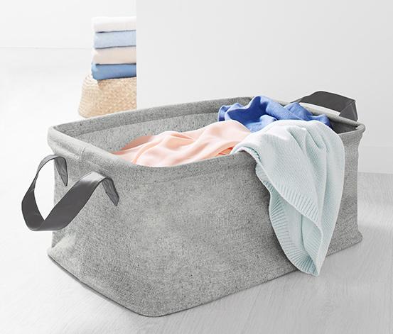 Składany kosz tekstylny na pranie