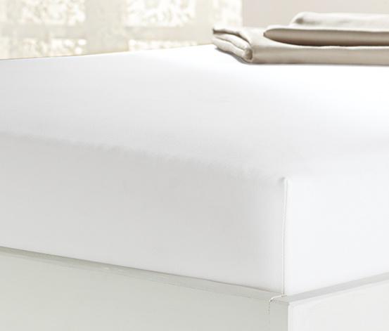 Prześcieradło z mikrowłókna z gumką, na materace od ok. 90 x 190 cm do ok. 100 x 200 cm, białe