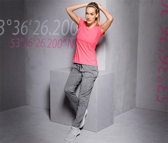 DryActive Plus Spor Pantolon, Kırçıllı Gri