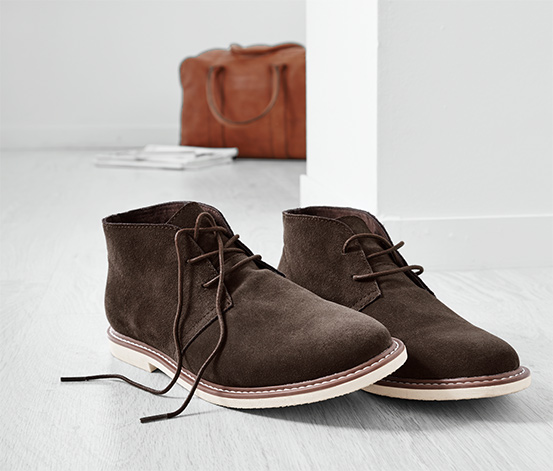Férfi velúrbőr cipő, barna