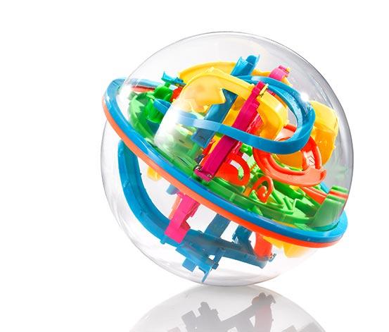 3D-s labirintus készségfejlesztő labda