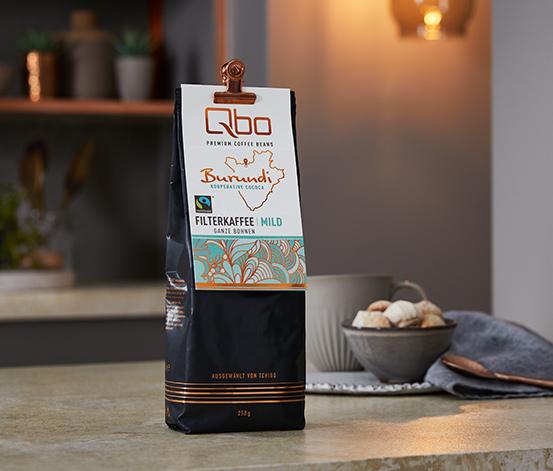 Qbo Premium Coffee Beans »Kooperative Cococa« Filterkaffee Mild – 250g Ganze Bohne