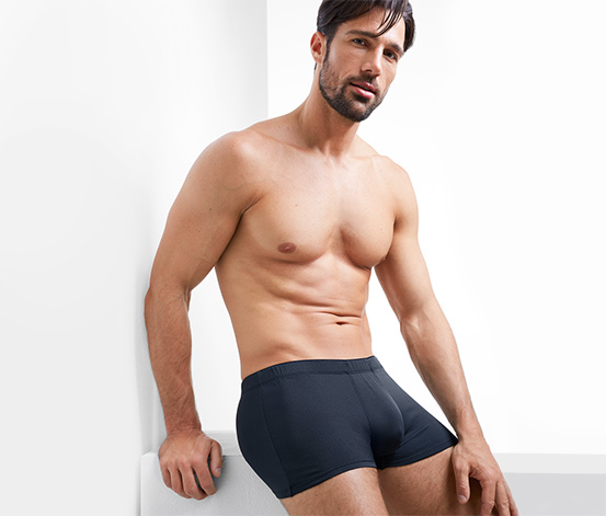 2 mikroszálas boxer alsónadrág szettben, sötétkék