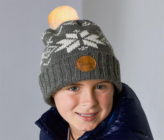 Gyerek sapka világító bojttal