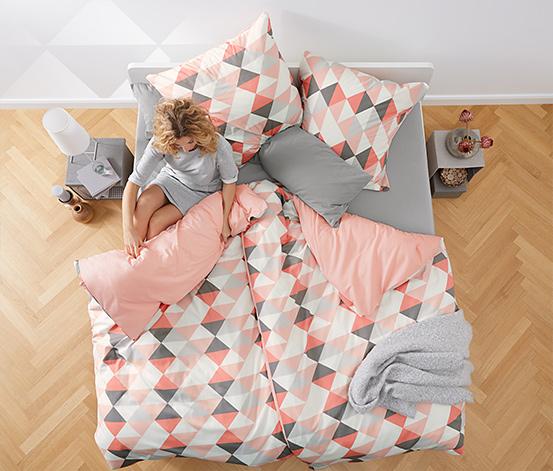 Kétoldalas renforcé ágynemű, geometrikus, egyszemélyes
