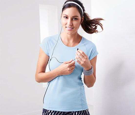 DryActive Plus Spor Tişört, Açık Mavi