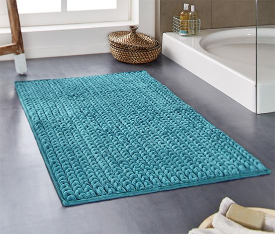Tapis de bain à l'aspect tricoté, env. 100 x 60 cm
