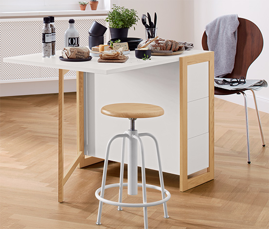 Table à manger pliable avec espace de rangement, env. 160 x 75 cm