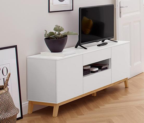TV-s szekrény, fehér