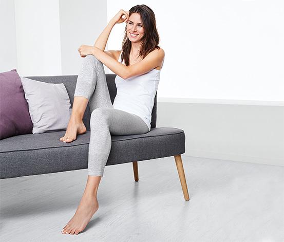 2 női leggings szettben, kék/szürke