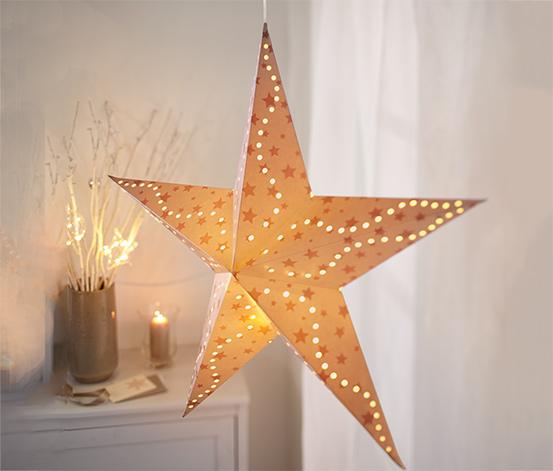 Papírová hvězda s LED