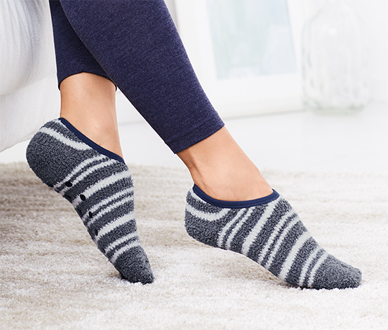 2 paires de chaussons-chaussettes